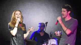 Teal Wicks and Drew Gehling singing Love On The Rocks (Broadway Sings Sara Bareilles) (11/2/15)