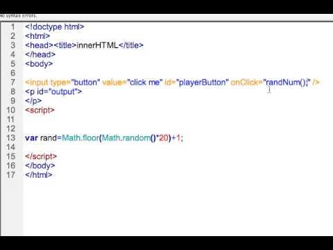 Javascript InnerHTML