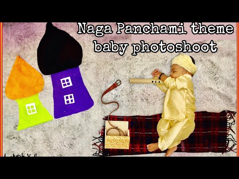 DIY Baby Naga panchami theme baby photoshoot at home|| DIY photoshoot at home