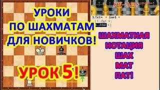Шахматный урок 5 для начинающих - что такое шах, мат и пат.
