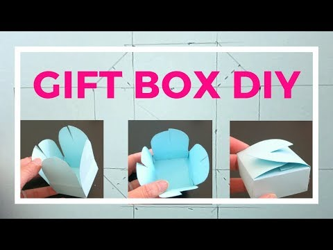 Simple DIY gift box paper folding tutorial -  party favor box making