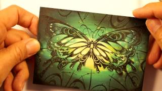 Stampscapes 101: Video 98.  Stampbord Butterfly.