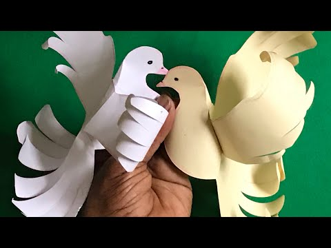 Diy pigeon/How to make paper Dove|paper crafts|Diy |Origami crafts/learning for kids