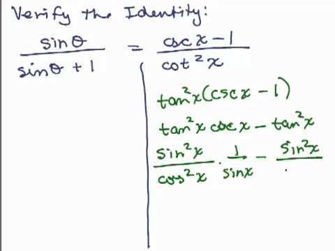 Prove Basic Trig Identities Part 2 - YouTube