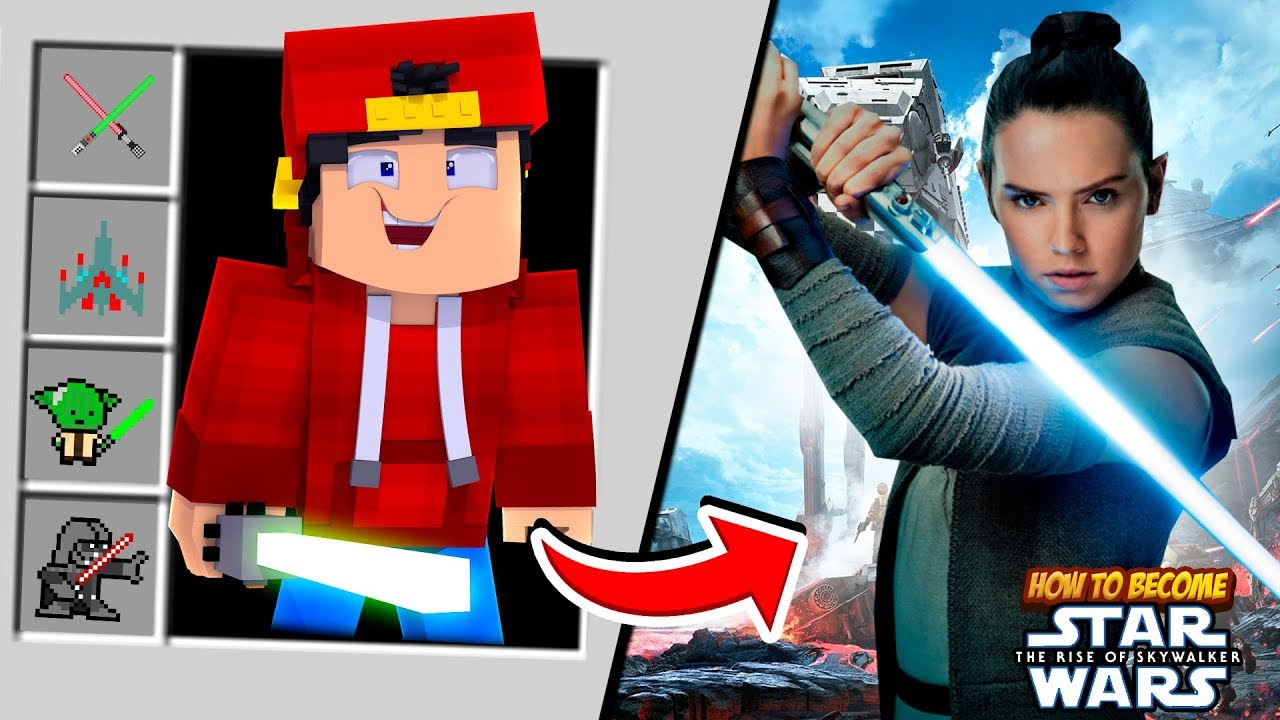 Minecraft How To Become Star Wars Rey Skywalker Youtube