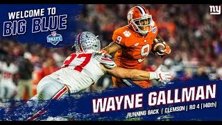 Fourth round pick Wayne Gallman Highlights