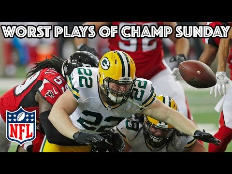 Worst Plays of AFC & NFC Championship Games | NFL Highlights
