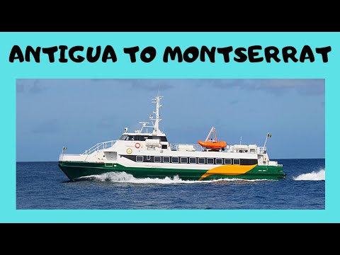 Scenic boat trip from Antigua to Montserrat (Caribbean)