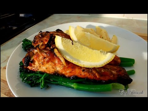 Jerk Salmon Recipe [Served With Broccoli & Herb Pasta ] | Recipes By Chef Ricardo