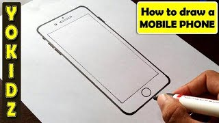 How to draw MOBILE PHONE for kids