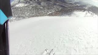 網張温泉スキー場からアクセスして犬倉山でバックカントリースキーして...