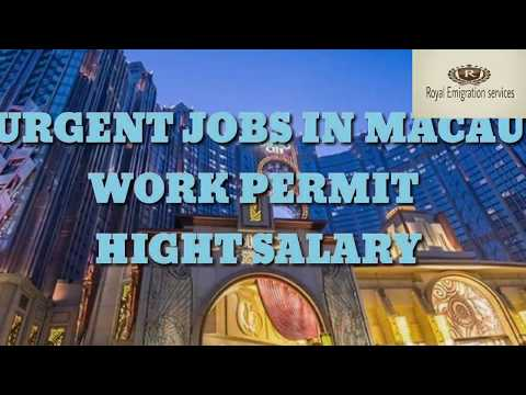 #Abroad Jobs In Macau Country// 45,000/- to 70,000/- Salary Monthly//Post=waiter//#