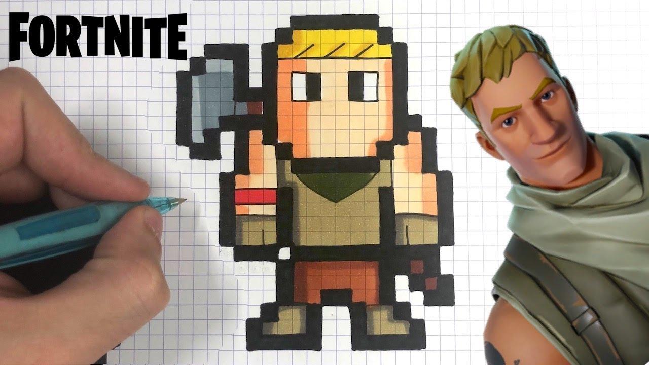 Tuto Dessin Facile Skin Bambi Pixel Art Fortnite