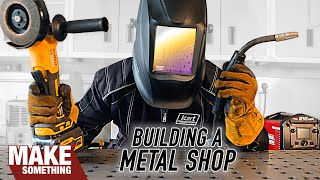 Garage Metal Shop Tour. Getting Started in Metalworking. Furniture, Sculpture, Chassis Building.