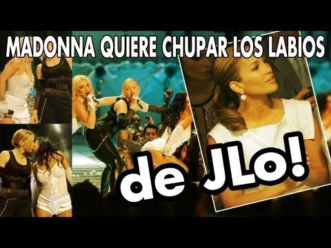 Madonna Quiere Chupar Los Labios de JLo!