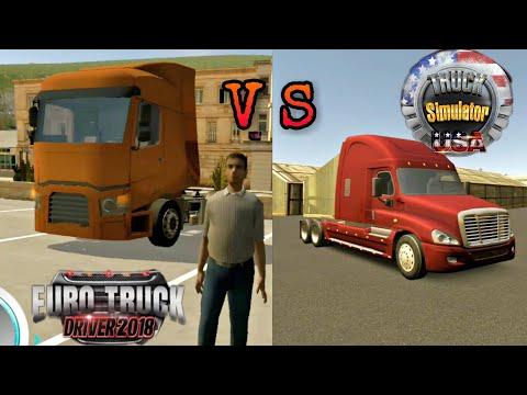 Euro Truck Driver 2018 | VS | Truck Simulator USA | OVILEX Android Gameplay Comparison !!!