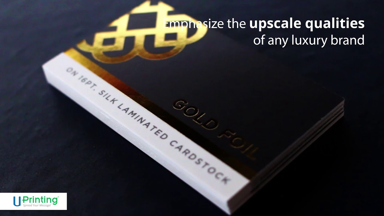Gold, Silver, & Copper Metallic Foil Stamp Options for Business ...