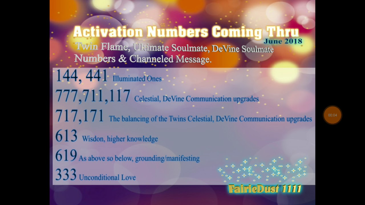 TWINFLAME ⭐STARSEED UPCOMING ✨ENERGIES/NUMBERS JUNE2018
