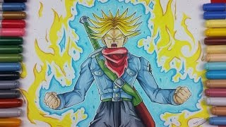 Drawing FUTURE TRUNKS Super Saiyan BLUE OF RAGE | Dragonball Super | TolgArt