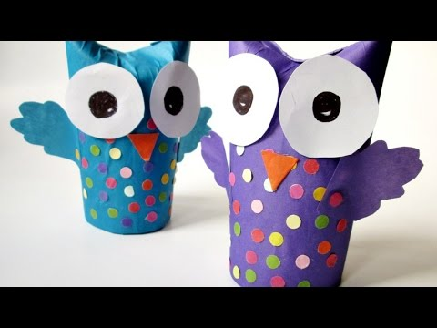 How To Make a Wonderful Recycled Tissue Paper Roll Owl - DIY Crafts Tutorial - Guidecentral