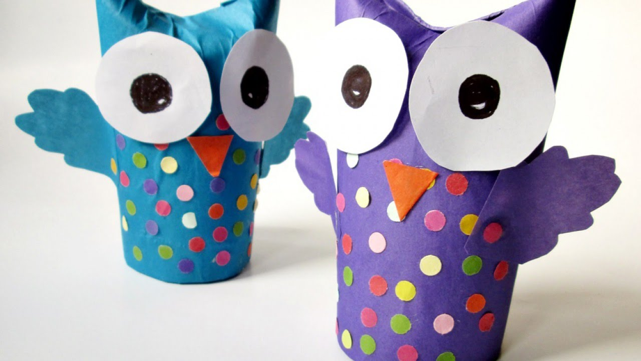 How to make a wonderful recycled tissue paper roll owl diy how to make a wonderful recycled tissue paper roll owl diy crafts tutorial guidecentral youtube jeuxipadfo Choice Image