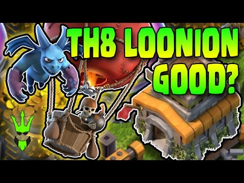 DOES LOONION WORK AT TH8? - TH8 Dark Elixir Farming Comp - Clash of Clans