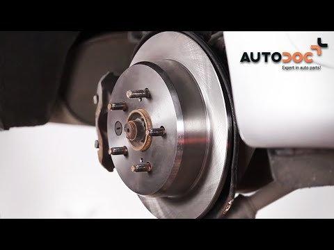 How to replace rear brake discs and brake pads LEXUS IS 2 TUTORIAL | AUTODOC