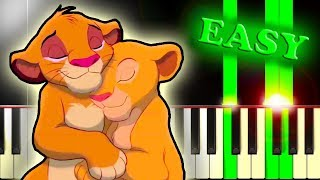 CAN YOU FEEL THE LOVE TONIGHT from THE LION KING - Easy Piano Tutorial Video