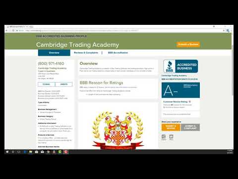 BBB ACCREDITED BUSINESS PROFILE  Cambridge Trading Academy
