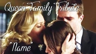 """Arrow: Oliver/Moira/Thea -- Queen Family Tribute -- """"Name"""" (song cover by Boyce Avenue)"""