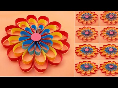 paper folding art origami how to make Easy snowflakes