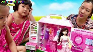 Búp bê Barbie và tủ quần áo phụ kiện cho búp bê , barbie fashionistas doll review toys videos