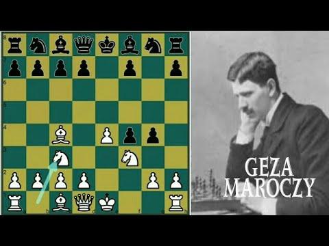 Sacrificing both Knights on 5th & 9th Move - Geza Maroczy vs Mikhail Chigorin