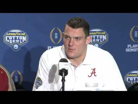 Lane Kiffin, Derrick Henry and Ryan Kelly address the media