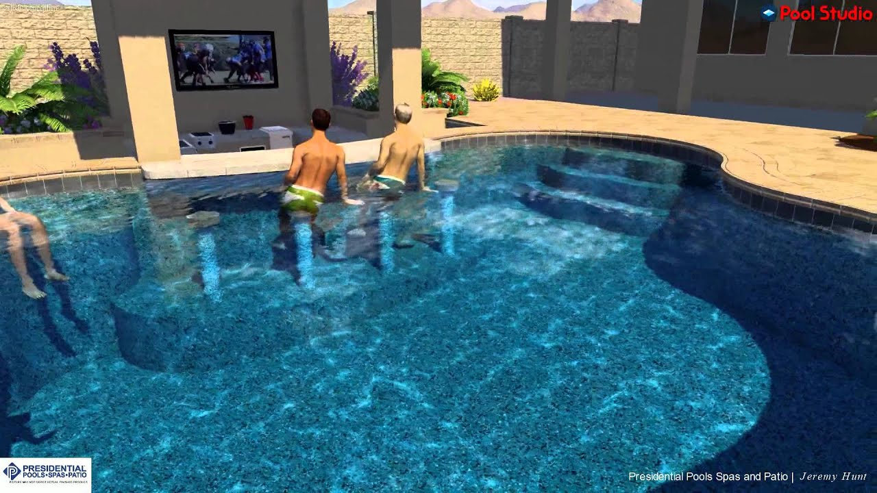 Rodriguez Family Backyard Design Concept By Jeremy Hunt At Presidential Pools Spas Patio