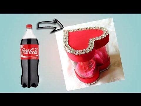 Caja En Forma De Corazón Con Botellas De Plástico Recicladas Para San Valentín Día De Las Madres Youtube