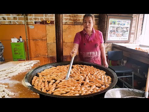43 ,  ,    , Amazing skill of Making twisted doughnuts, Korean street food