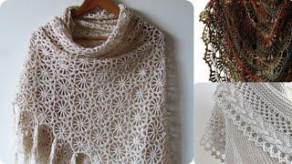 Örgü şal Modelleri | #crochet #knitting #shawl