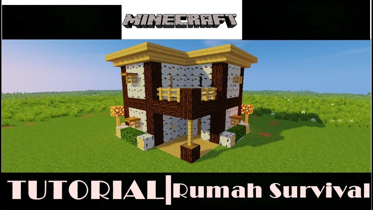 Minecraft Tutorial Cara Membuat Rumah Survival 2 Youtube