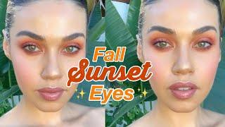 Fall Sunset Eyes Makeup   Eman