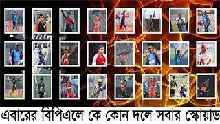 দেখে নিন বিপিএল ২০১৭ এর সব দলের ফুল স্কোয়াড আপডেট  BPL 2017 full squad of all team | BPL News Update