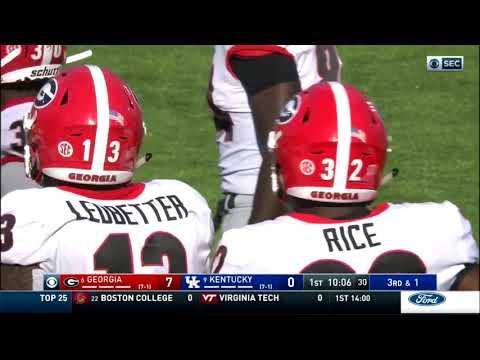 Georgia Bulldogs Football Vs. Kentucky Wildcats - 2018