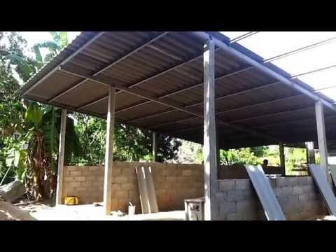 การสร้างบ้านเช่า ราคาถูก ต้นทุนต่ำ (มุงหลังคา)