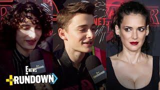 """Stranger Things"" Cast Tries Winona Ryder Trivia | The Rundown | E! News"