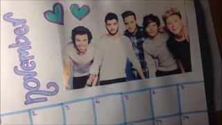 DIY One Direction Calendar