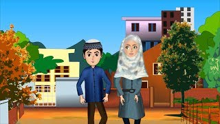 When the adhan begin Abdul Bari Urdu Islamic Cartoons for children