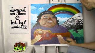 "Baixar Israel ""IZ"" Kamakawiwo'ole - Somewhere Over The Rainbow (Painting)"