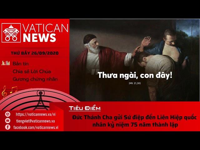 Radio: Vatican News Tiếng Việt thứ Bảy 26.09.2020