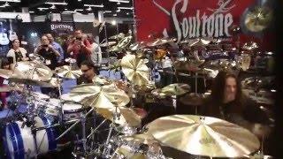 Nick Menza & Shawn Drover at Soultone Cymbals NAMM 1-24-2016