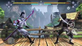 A fight in shadow fight 3 with sina
